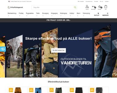 friluftslageret.dk website