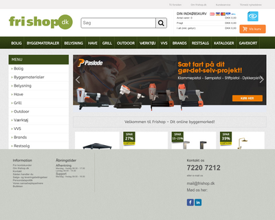 frishop.dk website