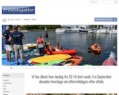 fritidskajakker.dk website