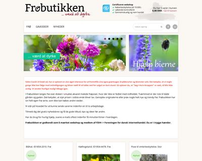froebutikken.dk website