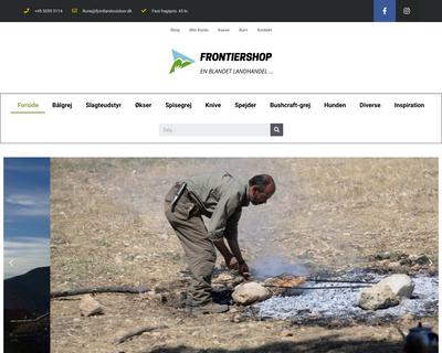 frontiershop.dk website