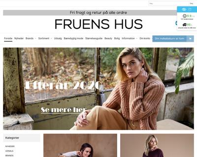 fruenshus.dk website