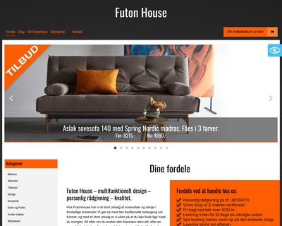 futonhouse.dk website