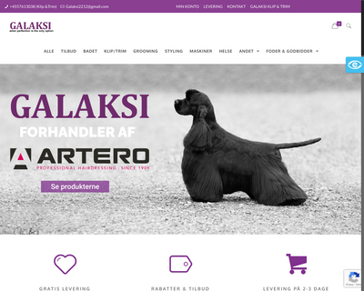 galaksi.dk website