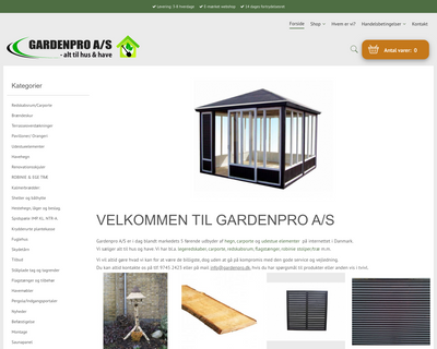 gardenpro.dk website