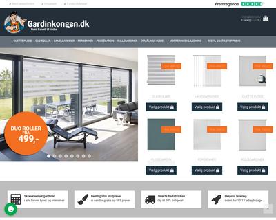 gardinkongen.dk website