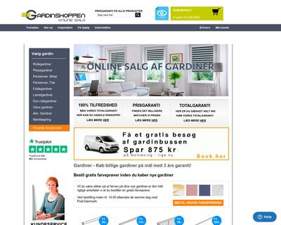 gardinshoppen.dk website