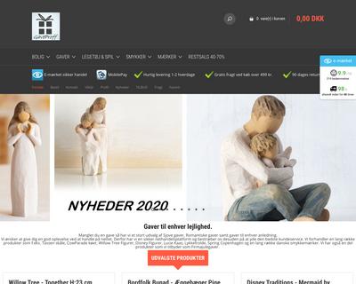 gaveproff.dk website