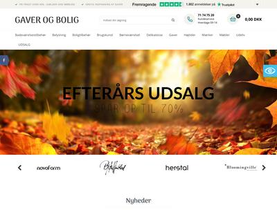 gaverogbolig.dk website