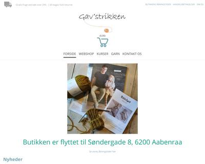 gavstrikken.dk website