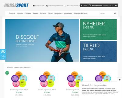www.gbasesport.dk website