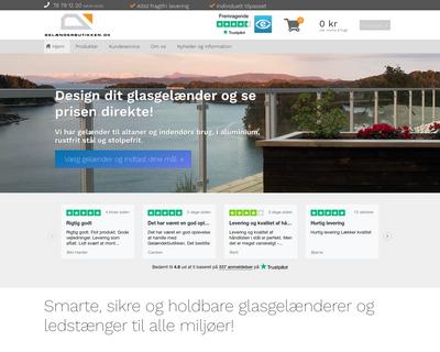 gelaenderbutikken.dk website