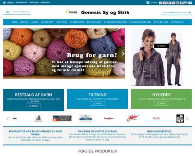 genesis.dk website