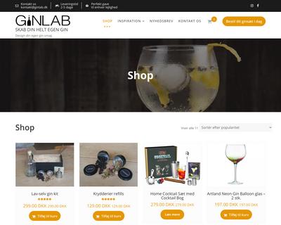 ginlab.dk website