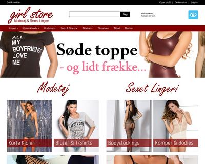 girlstore.dk website