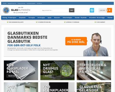 glasbutikken.dk website