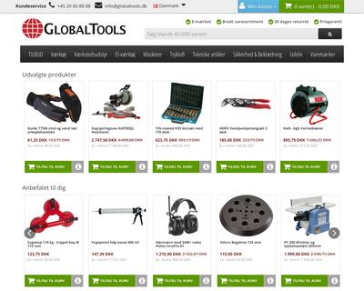 www.globaltools.dk website