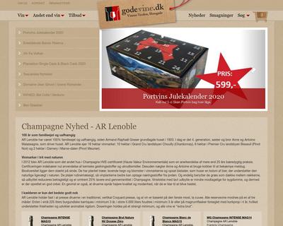 godevine.dk website