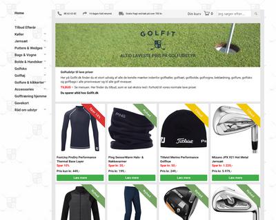 golfit.dk website