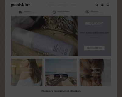 goodskin.dk website