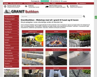 granitbutikken.dk website