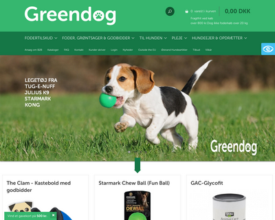 greendog.dk website