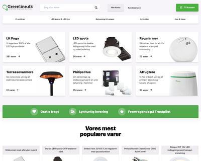 greenline.dk website