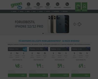 greentel.dk website