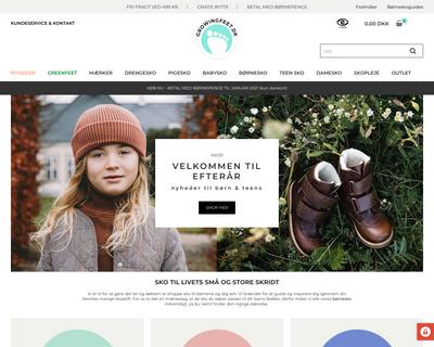growingfeet.dk website