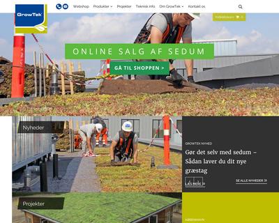 www.growtek.dk website