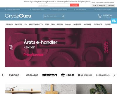 grydeguru.dk website