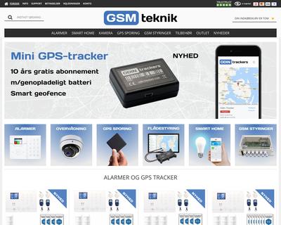 gsmteknik.dk website