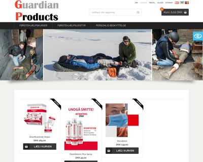 guardianproducts.dk website