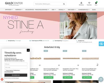 guldcenter.dk website