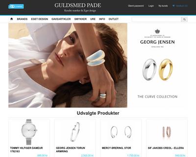 guldsmedpade-shop.dk website