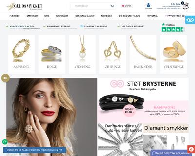 guldsmykket.dk website