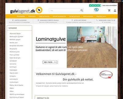 gulvlageret.dk website
