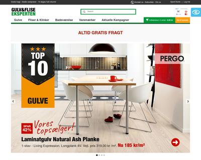gulvogfliseeksperten.dk website