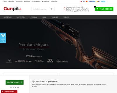 www.gunpit.dk website