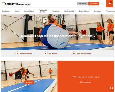 gymnastikgrossisten.dk website