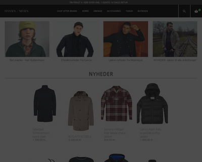 hansenognissen.dk website