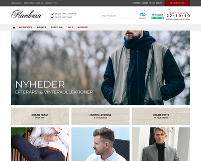 hardcasa.dk website
