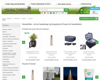 havehobby.dk website