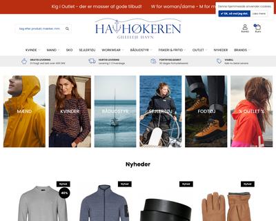 havhokeren.dk website