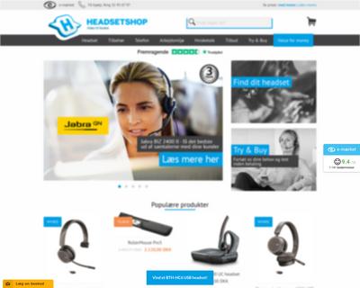headsetshop.dk website