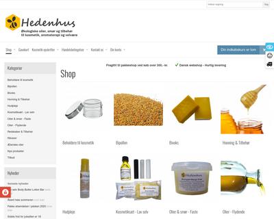 hedenhus.dk website