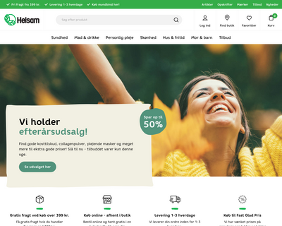 helsam.dk website