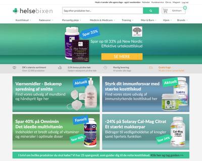 helsebixen.dk website