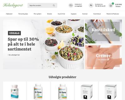 helselageret.dk website