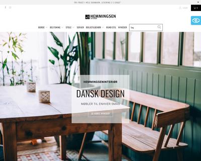 hemmingseninterior.dk website